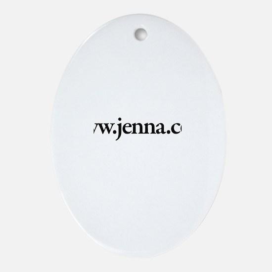 www.Jenna.com Oval Ornament