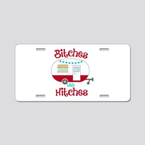 Bitches With Hitches Aluminum License Plate