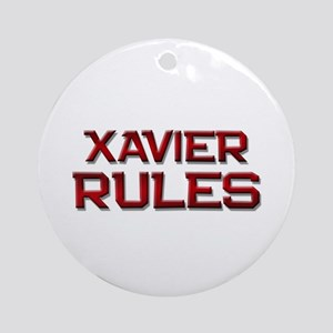 xavier rules Ornament (Round)