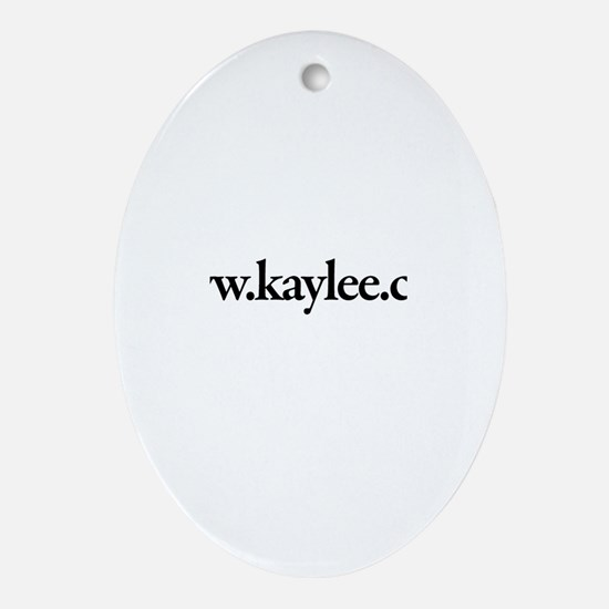 www.Kaylee.com Oval Ornament