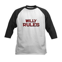 willy rules Kids Baseball Jersey