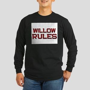 willow rules Long Sleeve Dark T-Shirt