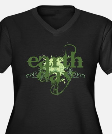 Earth Day Grunge Plus Size T-Shirt