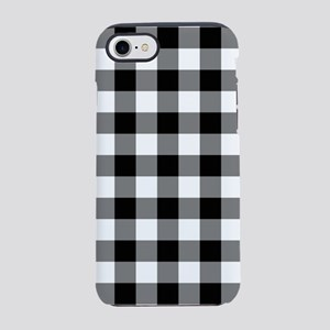 Black White Gingham iPhone 7 Tough Case