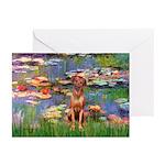 Lilies / R Ridgeback Greeting Cards (Pk of 10)