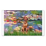 Lilies / R Ridgeback Sticker (Rectangle)