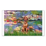 Lilies / R Ridgeback Sticker (Rectangle 50 pk)