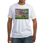 Lilies / R Ridgeback Fitted T-Shirt