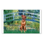 Garden / R Ridgeback Sticker (Rectangle)
