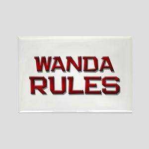 wanda rules Rectangle Magnet