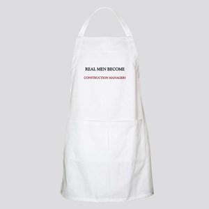 Real Men Become Construction Managers BBQ Apron