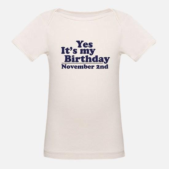 November 2nd Birthday Tee