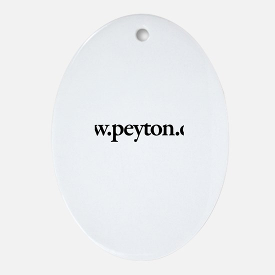 www.Peyton.com Oval Ornament