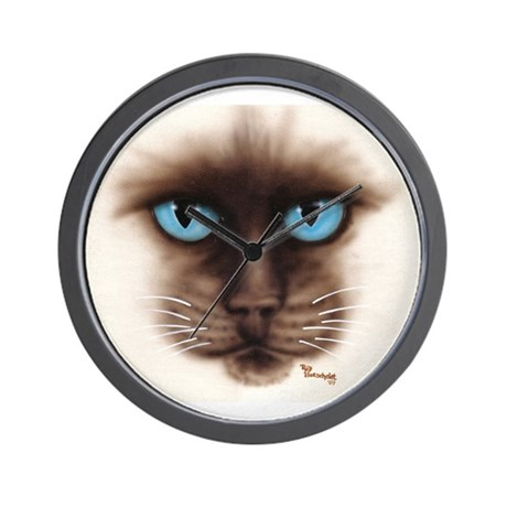 A Siamese Face Wall Clock