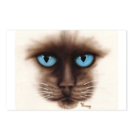 A Siamese Face Postcards (Package of 8)