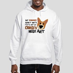 Corgi Nose Art Hooded Sweatshirt