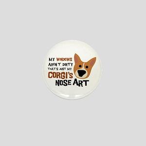 Corgi Nose Art Mini Button