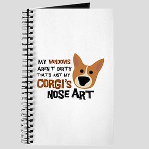 Corgi Nose Art Journal