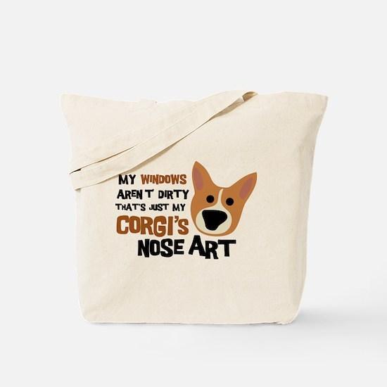 Corgi Nose Art Tote Bag