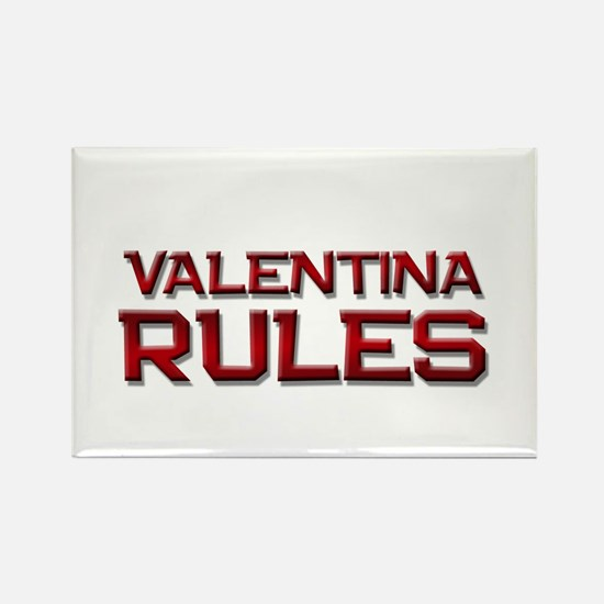 valentina rules Rectangle Magnet