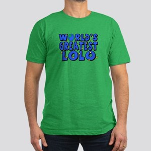 World's Greatest Lolo Men's Fitted T-Shirt (dark)