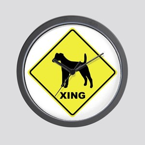 Fox Terrier Crossing Wall Clock