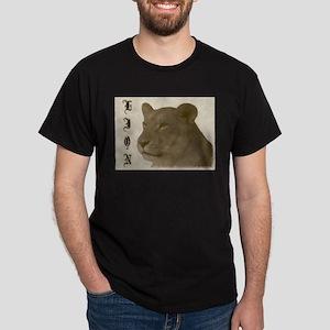 Antique Lion Black T-Shirt