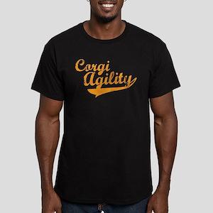 Corgi Agility Men's Fitted T-Shirt (dark)