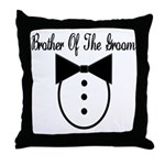Brother of the Groom Throw Pillow