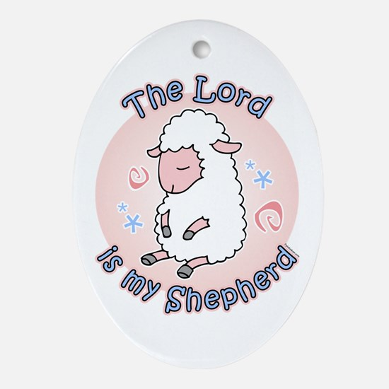 Lord Is My Shepherd Oval Ornament