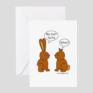 Funny Chocolate Bunnies Greeting Card
