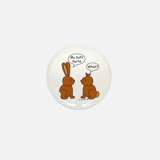 Funny Chocolate Bunnies Mini Button