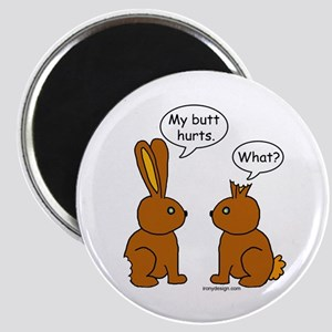 Funny Chocolate Bunnies Magnet