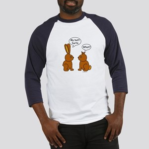 Funny Chocolate Bunnies Baseball Jersey