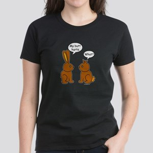 Funny Chocolate Bunnies Women's Dark T-Shirt