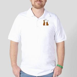 Funny Chocolate Bunnies Golf Shirt