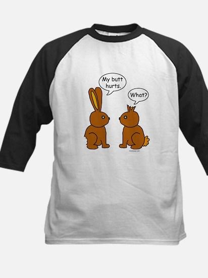Funny Chocolate Bunnies Kids Baseball Jersey