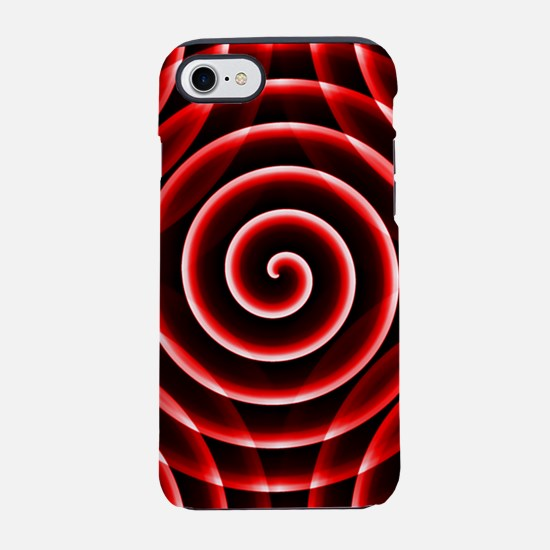 Red Spiral iPhone 7 Tough Case
