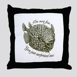 Not Fat/Surprised - Throw Pillow