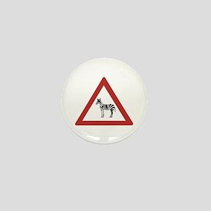 Caution Zebras, Namibia Mini Button
