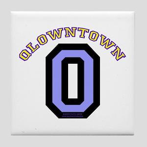QlownTown team player Tile Coaster