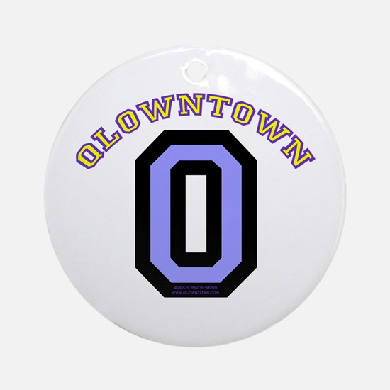 QlownTown team player Ornament (Round)