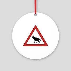 Caution Hyenas, Namibia Ornament (Round)