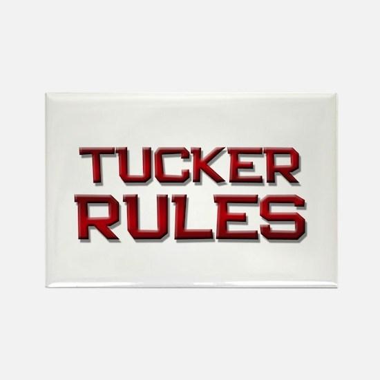 tucker rules Rectangle Magnet