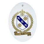 RIOU Family Crest Oval Ornament