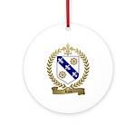 RIOU Family Crest Ornament (Round)