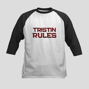 tristin rules Kids Baseball Jersey