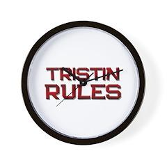 tristin rules Wall Clock