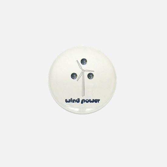 Wind Power Mini Button