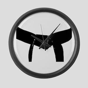 Martial Arts Black Belt Large Wall Clock